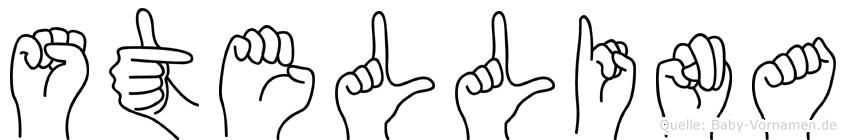 Stellina im Fingeralphabet der Deutschen Gebärdensprache