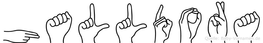 Halldora im Fingeralphabet der Deutschen Gebärdensprache