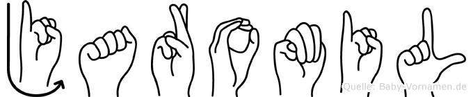 Jaromil im Fingeralphabet der Deutschen Gebärdensprache