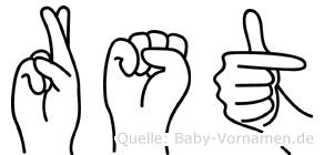 Rüstü im Fingeralphabet der Deutschen Gebärdensprache