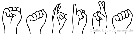 Safira im Fingeralphabet der Deutschen Gebärdensprache