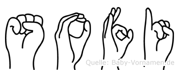 Sofi in Fingersprache für Gehörlose