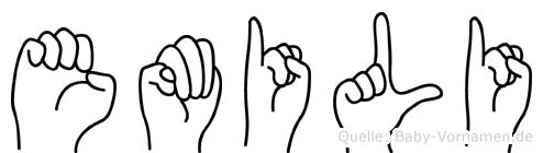 Emili im Fingeralphabet der Deutschen Gebärdensprache