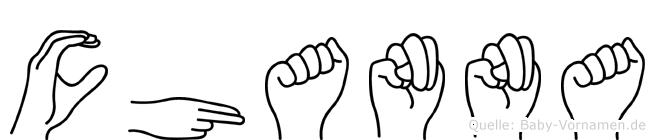 Channa im Fingeralphabet der Deutschen Gebärdensprache