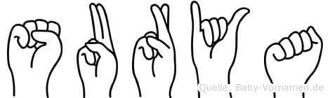Surya in Fingersprache für Gehörlose