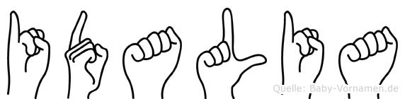 Idalia im Fingeralphabet der Deutschen Gebärdensprache