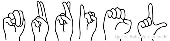 Nuriel in Fingersprache für Gehörlose