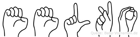 Eelko in Fingersprache für Gehörlose