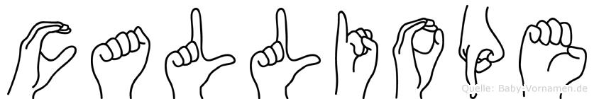 Calliope im Fingeralphabet der Deutschen Gebärdensprache