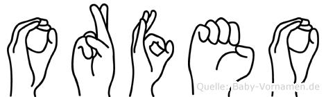 Orfeo in Fingersprache für Gehörlose