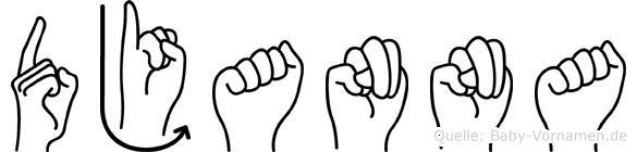 Djanna in Fingersprache für Gehörlose