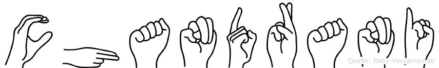 Chandrani im Fingeralphabet der Deutschen Gebärdensprache