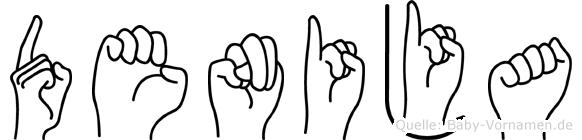 Denija im Fingeralphabet der Deutschen Gebärdensprache