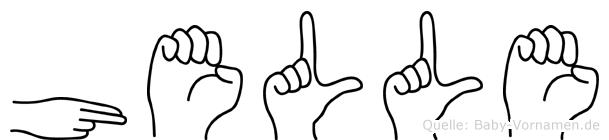 Helle im Fingeralphabet der Deutschen Gebärdensprache