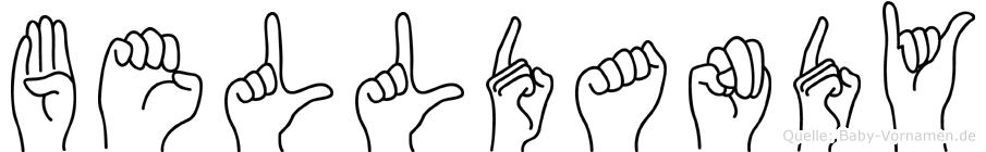 Belldandy im Fingeralphabet der Deutschen Gebärdensprache