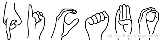Picabo in Fingersprache für Gehörlose