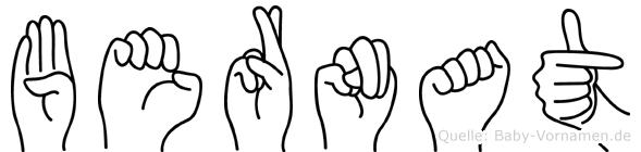 Bernat in Fingersprache für Gehörlose