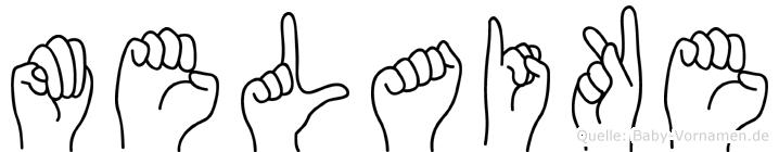 Melaike in Fingersprache für Gehörlose