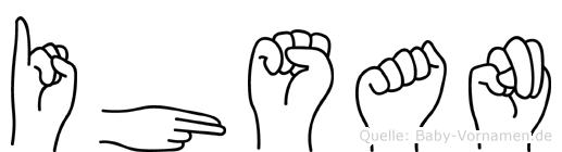 Ihsan im Fingeralphabet der Deutschen Gebärdensprache