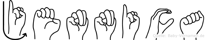 Jennica in Fingersprache für Gehörlose