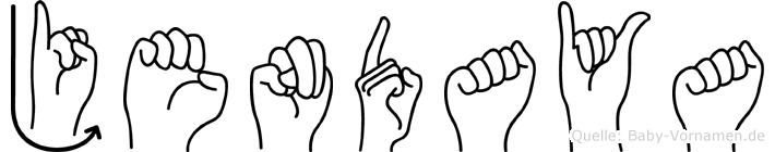 Jendaya im Fingeralphabet der Deutschen Gebärdensprache