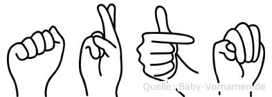 Artöm in Fingersprache für Gehörlose