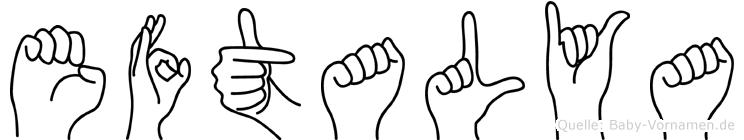 Eftalya in Fingersprache für Gehörlose