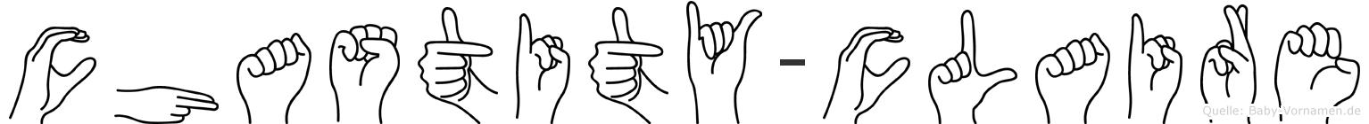 Chastity-Claire im Fingeralphabet der Deutschen Gebärdensprache