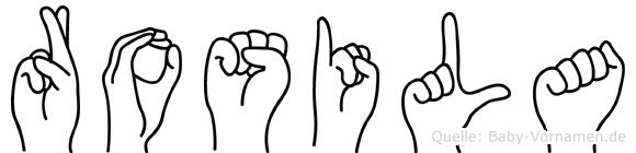 Rosila in Fingersprache für Gehörlose