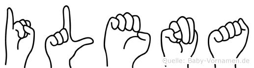 Ilena im Fingeralphabet der Deutschen Gebärdensprache