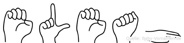 Eleah im Fingeralphabet der Deutschen Gebärdensprache