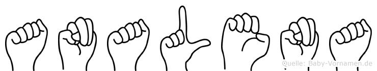 Analena im Fingeralphabet der Deutschen Gebärdensprache