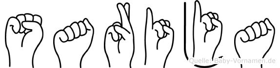 Sarija in Fingersprache für Gehörlose