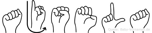 Ajsela in Fingersprache für Gehörlose