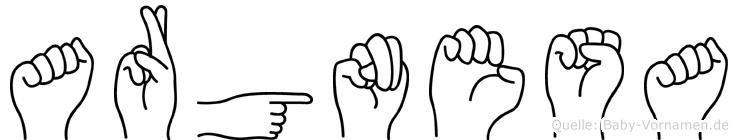 Argnesa im Fingeralphabet der Deutschen Gebärdensprache