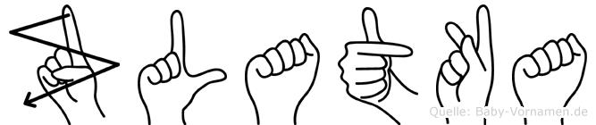 Zlatka in Fingersprache für Gehörlose
