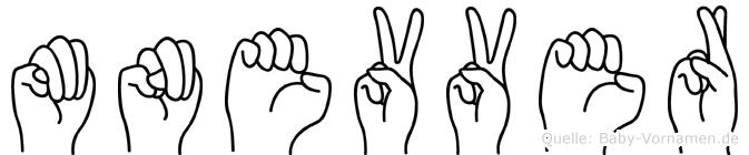 Münevver im Fingeralphabet der Deutschen Gebärdensprache