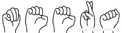 Meera in Fingersprache für Gehörlose
