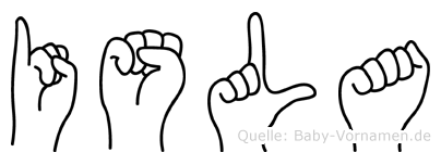 Isla in Fingersprache für Gehörlose
