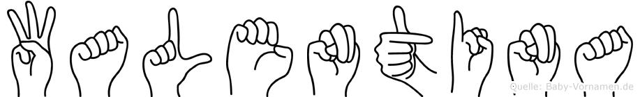 Walentina in Fingersprache für Gehörlose