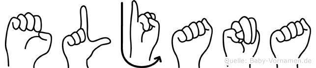 Eljana im Fingeralphabet der Deutschen Gebärdensprache