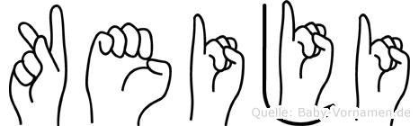 Keiji in Fingersprache für Gehörlose