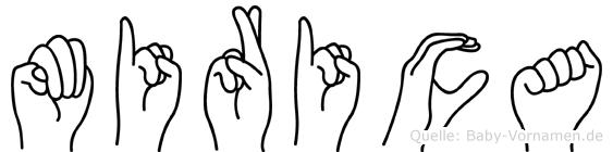 Mirica im Fingeralphabet der Deutschen Gebärdensprache