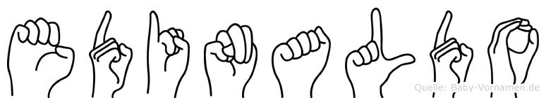 Edinaldo im Fingeralphabet der Deutschen Gebärdensprache