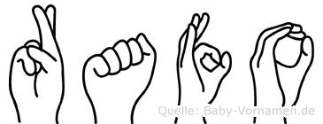 Rafo in Fingersprache für Gehörlose