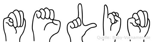 Melin in Fingersprache für Gehörlose