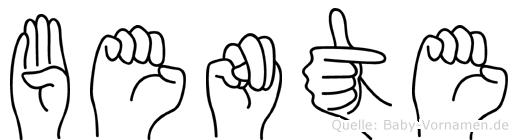 Bente im Fingeralphabet der Deutschen Gebärdensprache