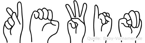 Kewin in Fingersprache für Gehörlose
