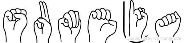 Sumeja in Fingersprache für Gehörlose