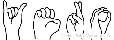 Yero im Fingeralphabet der Deutschen Gebärdensprache